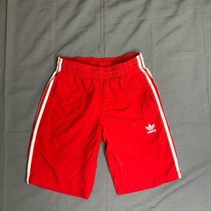 Men's red adidas shorts